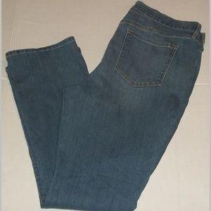 Ladies stretch blend curvy profile jeans EUC 18
